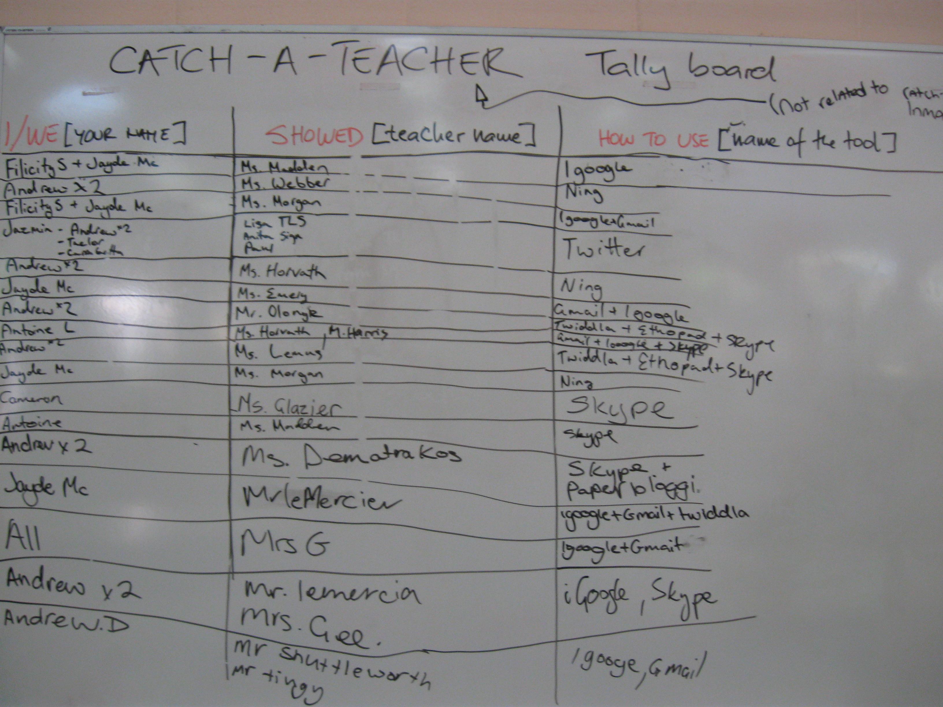 Catch-A-Teacher Day | Human